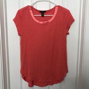 Alfani Coral Short Sleeve Blouse / Shirt